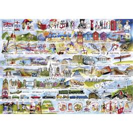 Cream Teas & Queuing Jigsaw 1000pc  Thumbnail Image 1