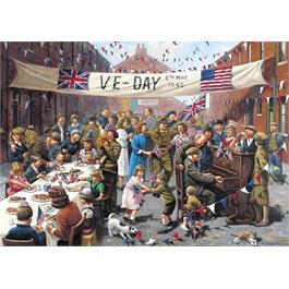VE Day 500 Piece Jigsaw Puzzle Thumbnail Image 1