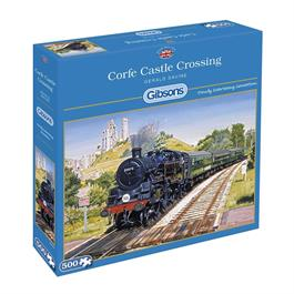 Corfe Castle Crossing Jigsaw 500pc Thumbnail Image 0