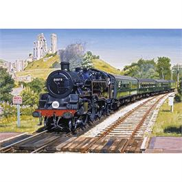 Corfe Castle Crossing Jigsaw 500pc Thumbnail Image 1
