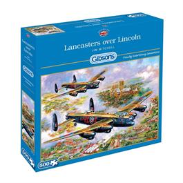Lancasters Over Lincoln Jigsaw 500pc Thumbnail Image 0