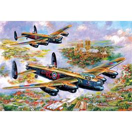 Lancasters Over Lincoln Jigsaw 500pc Thumbnail Image 1
