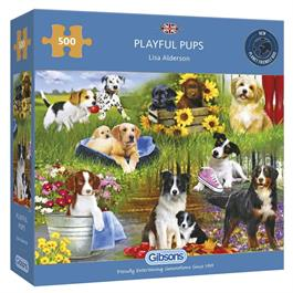 Playful Pups Jigsaw 500pc Thumbnail Image 0