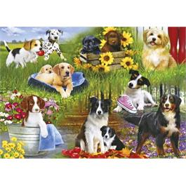 Playful Pups Jigsaw 500pc Thumbnail Image 1