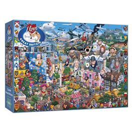 I Love Great Britain Jigsaw 1000pc Thumbnail Image 0