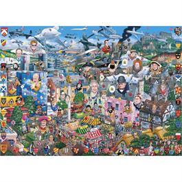 I Love Great Britain Jigsaw 1000pc Thumbnail Image 1