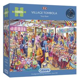 Village Tombola 500XL Piece Jigsaw Puzzle thumbnail