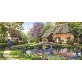 Cottage By The Brook Jigsaw 636pc Thumbnail Image 1