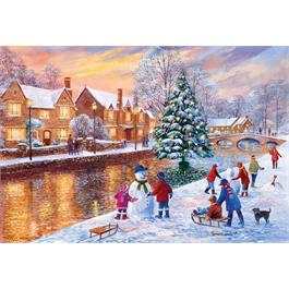 Bourton At Christmas Jigsaw 500pc Thumbnail Image 1