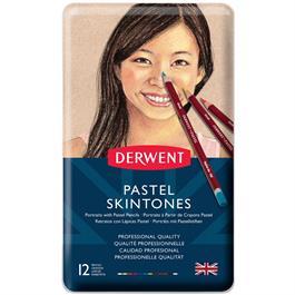 Derwent Pastel Pencil Skintones Tin of 12 Thumbnail Image 1