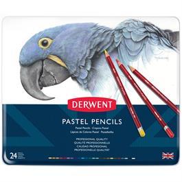 Derwent Pastel Pencils Tin of 24 Thumbnail Image 1