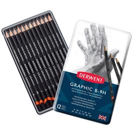 Derwent Graphic Pencils Hard (Technical) Tin of 12 thumbnail