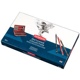 Derwent Sketching Wooden Box of 72 Thumbnail Image 2