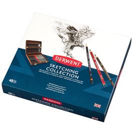 Derwent Sketching Pencil 48 Wooden Box Thumbnail Image 2