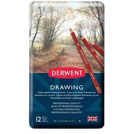 Derwent Drawing Pencils Tin of 12 Thumbnail Image 1