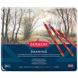 Derwent Drawing Pencils Tin of 24 Thumbnail Image 1