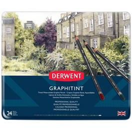 Derwent Graphitint Pencils Tin of 24 Thumbnail Image 1