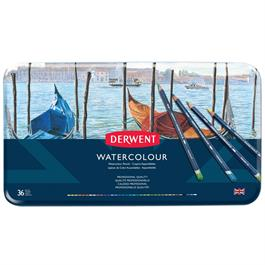 Derwent Watercolour Pencils Tin of 36 Thumbnail Image 1