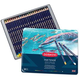 Derwent Inktense Pencils Tin of 24 Thumbnail Image 0