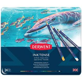 Derwent Inktense Pencils Tin of 24 Thumbnail Image 1
