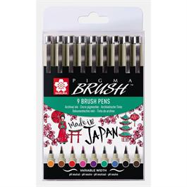 Pigma Brush Pen Wallet Of 9 thumbnail