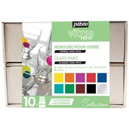 Pebeo Vitrea 160 Collection Set 10 x 45ml No.1 Colours thumbnail