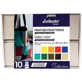 Pebeo Setacolor Opaque Collection Set 10 x 45ml No.2 Colours thumbnail