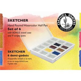Daniel Smith Watercolour SKETCHER Half Pan set of 6 Thumbnail Image 0
