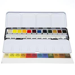 Daniel Smith 12 Watercolour Half Pan Metal Box Set Thumbnail Image 1