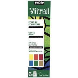 Pebeo Vitrail Initiation Set 6 x 20ml thumbnail