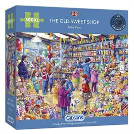 The Old Sweet Shop 500XL Piece Jigsaw Puzzle  thumbnail