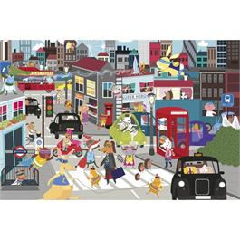 Superhero City 36 Piece Children's Jigsaw Puzzle Thumbnail Image 1