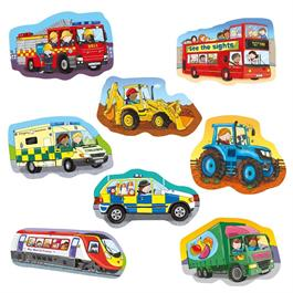 Wheels Children's Jigsaw Puzzles Thumbnail Image 1