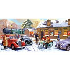 Christmas Eve at the Station 636 Piece Jigsaw Puzzle Thumbnail Image 1