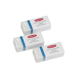 Derwent Multi Use Eraser 3 Pack Thumbnail Image 3