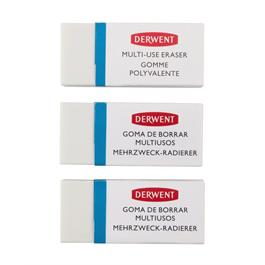 Derwent Multi Use Eraser 3 Pack Thumbnail Image 4