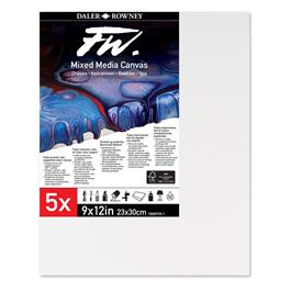 FW Mixed Media Canvas 9x12inch (23x30cm) pack of 5 thumbnail