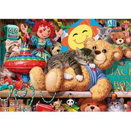 Snoozing on the Ted 250XL Piece Jigsaw Puzzle Thumbnail Image 1