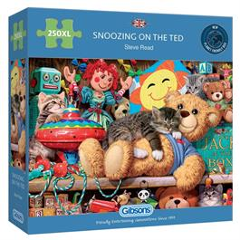 Snoozing on the Ted 250XL Piece Jigsaw Puzzle thumbnail