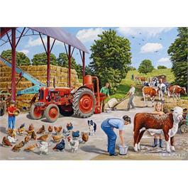 A Busy Farmyard 500 Piece Jigsaw Puzzle Thumbnail Image 1