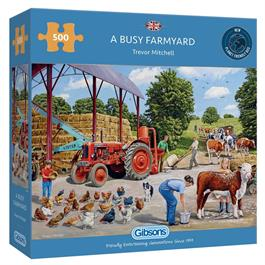 A Busy Farmyard 500 Piece Jigsaw Puzzle thumbnail
