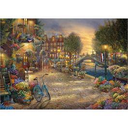 Amsterdam Cafe Jigsaw Puzzle 1000 pieces (Kinkade) Thumbnail Image 1