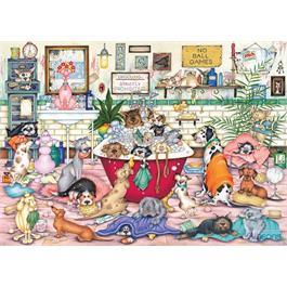 Bert's Bath Night 1000 Piece Jigsaw Puzzle Thumbnail Image 1