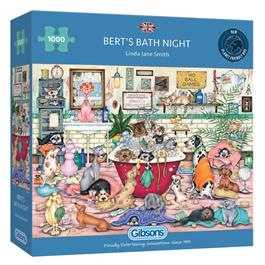 Bert's Bath Night 1000 Piece Jigsaw Puzzle Thumbnail Image 0