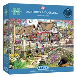 Daffodils & Ducklings 1000 Piece Jigsaw Puzzle Thumbnail Image 0