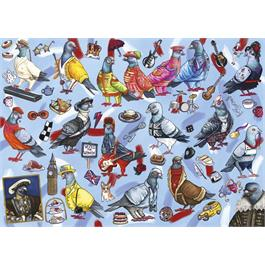 Pigeons of Britain 1000 Piece Jigsaw Puzzle Thumbnail Image 1