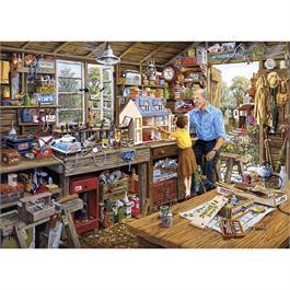 Grandad's Workshop 500XL Piece Jigsaw Puzzle Thumbnail Image 1