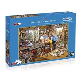 Grandad's Workshop 500XL Piece Jigsaw Puzzle thumbnail
