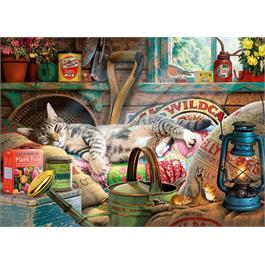 Snoozing in the Shed 500XL Piece Jigsaw Puzzle Thumbnail Image 1