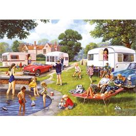Caravan Outings 2 x 500 Piece Jigsaw Puzzle Thumbnail Image 2